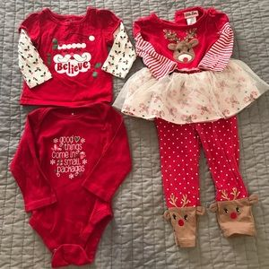 Baby Girl's Christmas Bundle Size 12 months
